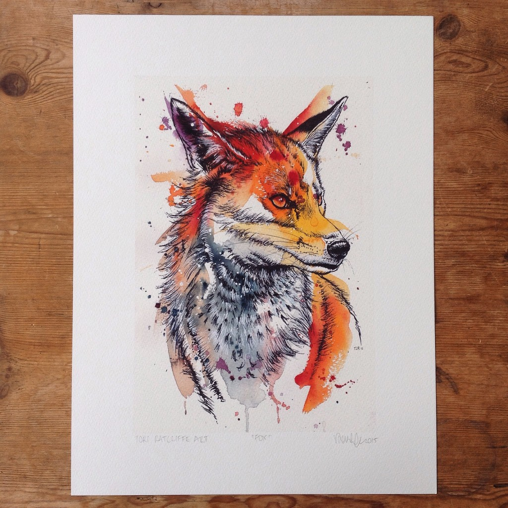 Fox, A4 (sold)  - prints available in online shop