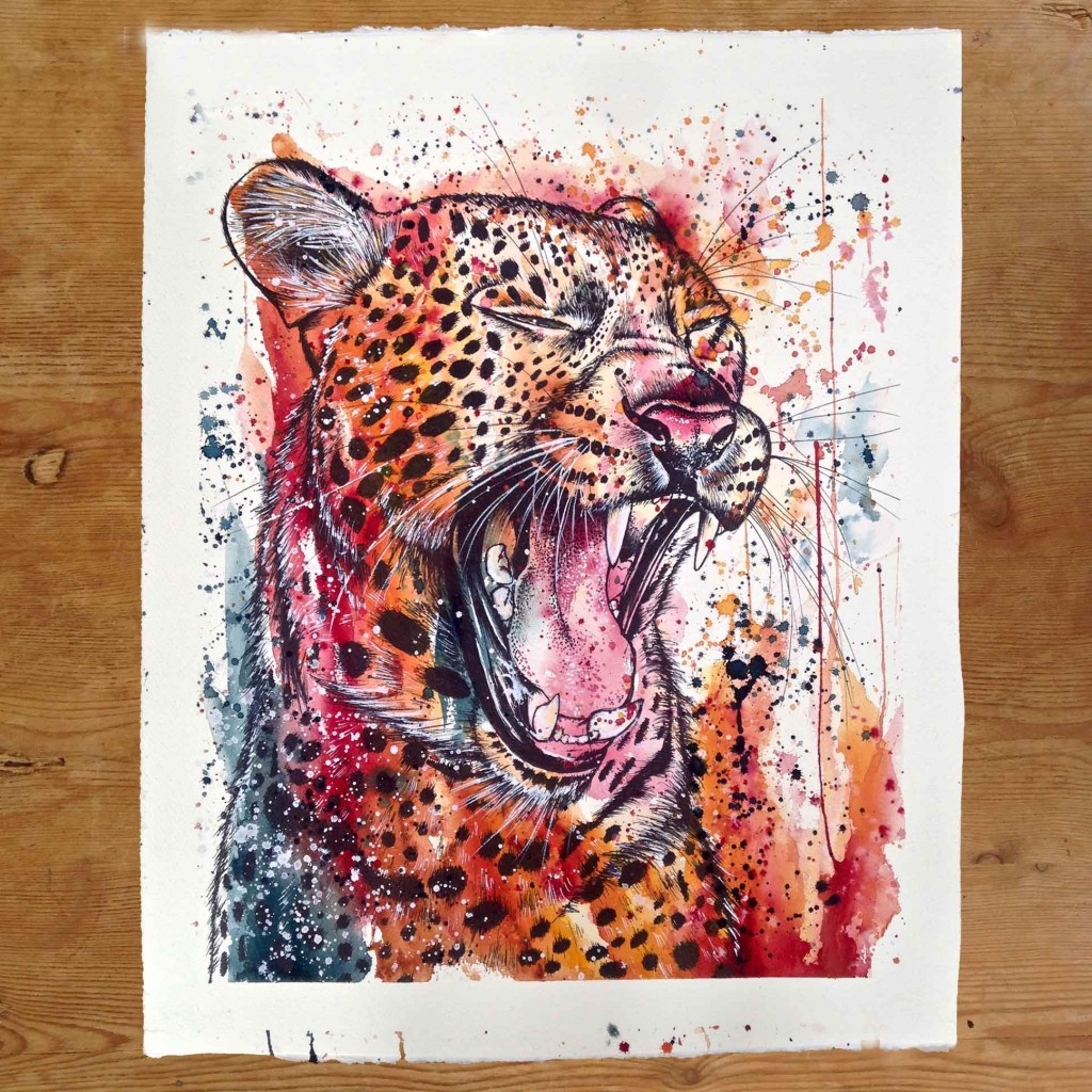 Leopard, A2 (original painting for sale)